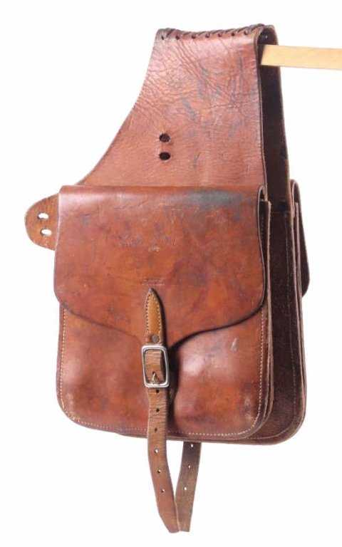 a957ce64301b L.J. McMillan Belgrade Montana Leather Saddle Bags. placeholder