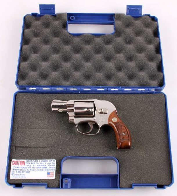 Smith & Wesson Model 49 .38 Revolver Nickel This i