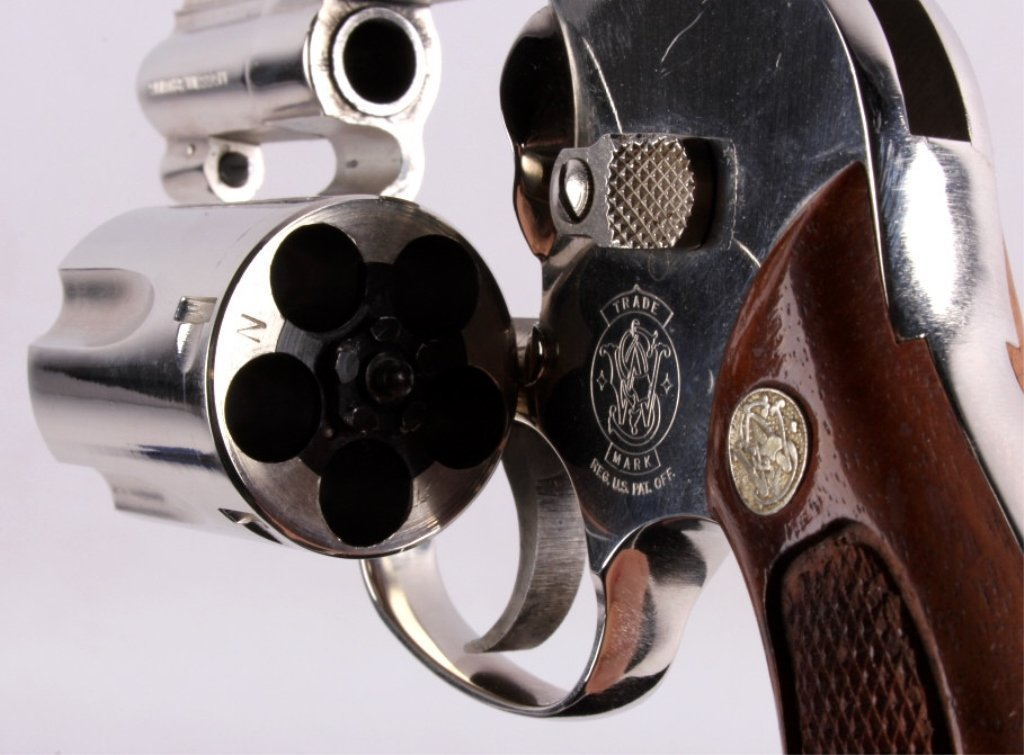 Smith & Wesson Model 49 .38 Revolver Nickel This i - 4