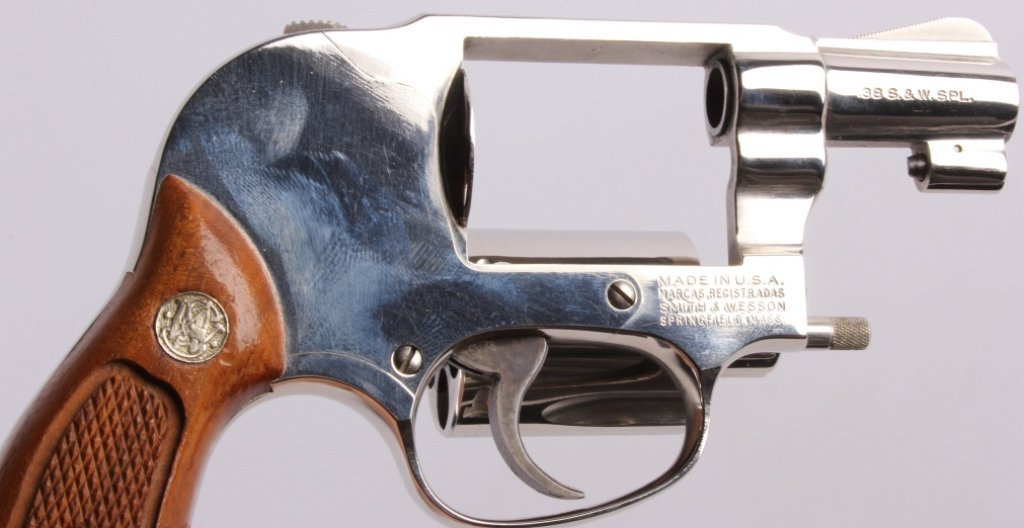 Smith & Wesson Model 49 .38 Revolver Nickel This i - 5