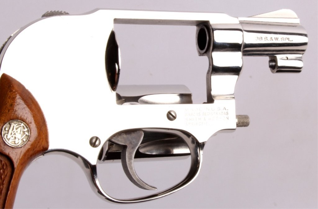 Smith & Wesson Model 49 .38 Revolver Nickel This i - 6