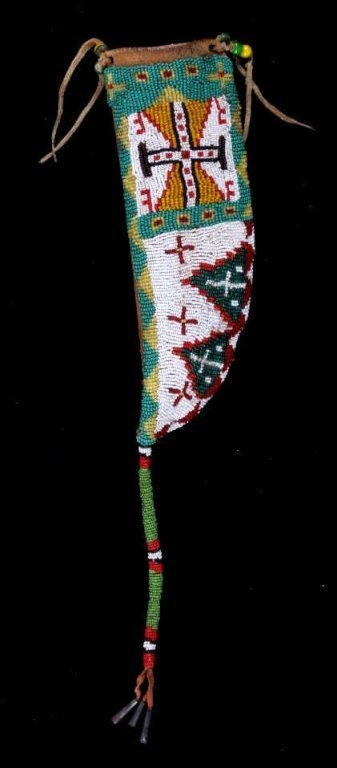 Teton Sioux Beaded Knife Sheath circa 1890's The p