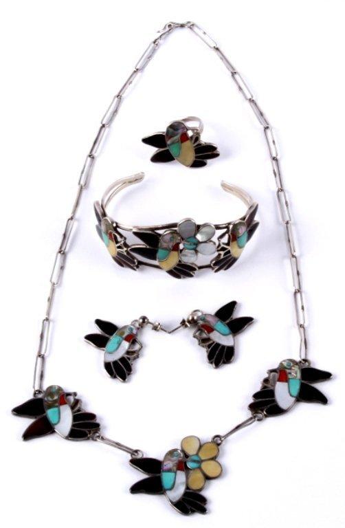 Zuni Inlaid Hummingbird Jewelry