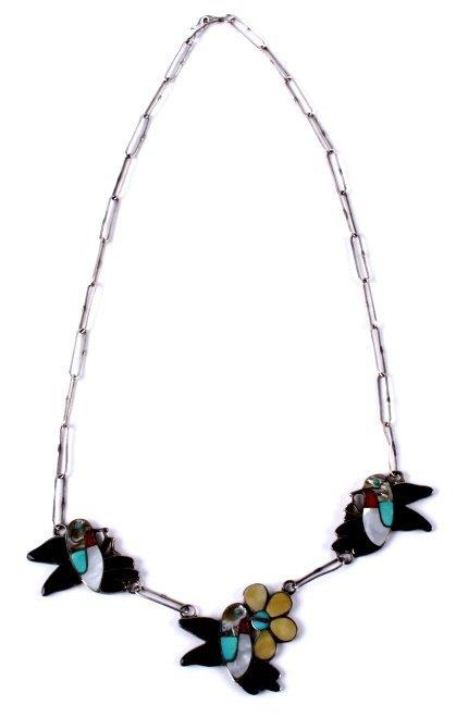 Zuni Inlaid Hummingbird Jewelry - 4