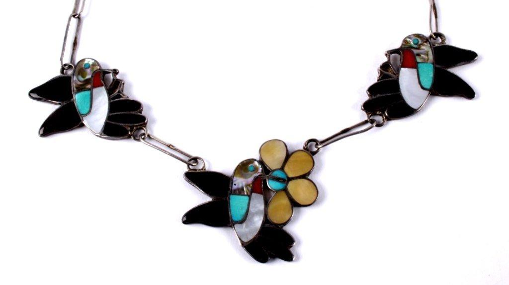 Zuni Inlaid Hummingbird Jewelry - 5