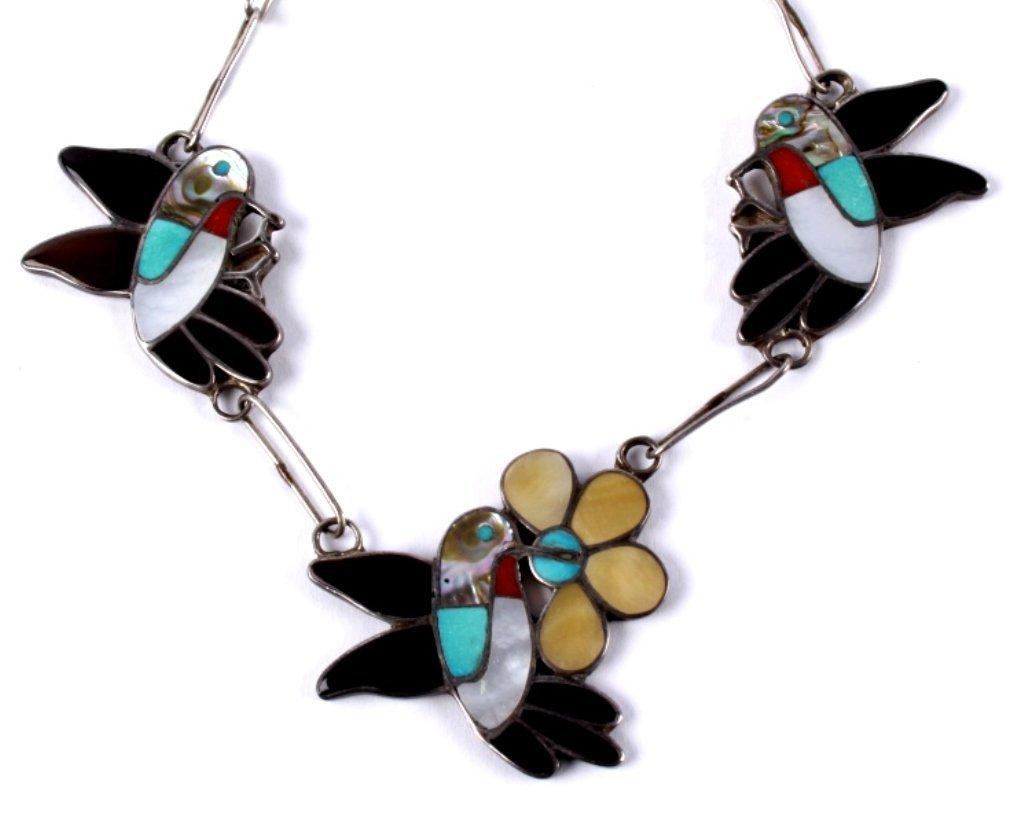 Zuni Inlaid Hummingbird Jewelry - 6