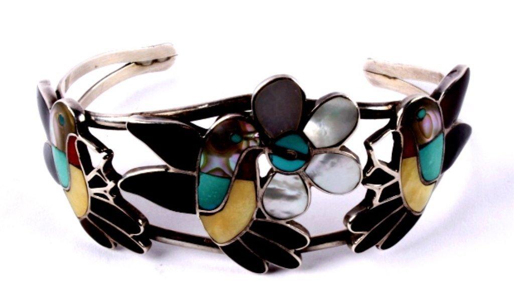 Zuni Inlaid Hummingbird Jewelry - 8