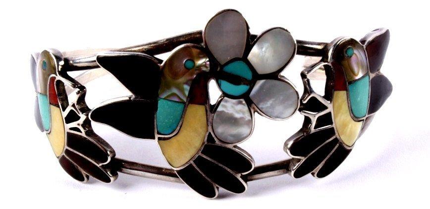 Zuni Inlaid Hummingbird Jewelry - 9