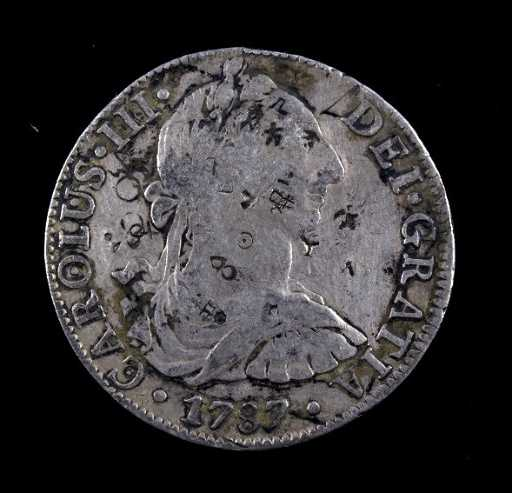 1787 Carolus III Dei Gratia 8 Reales Coin The
