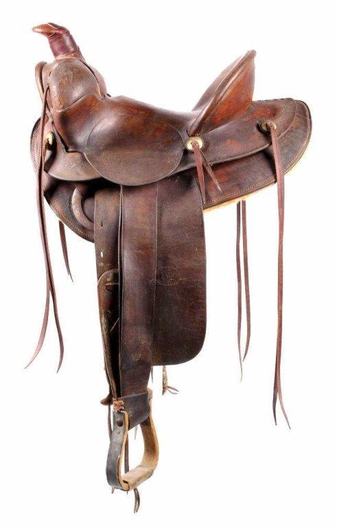 Fred Mueller Saddle Denver, Colorado circa 1915