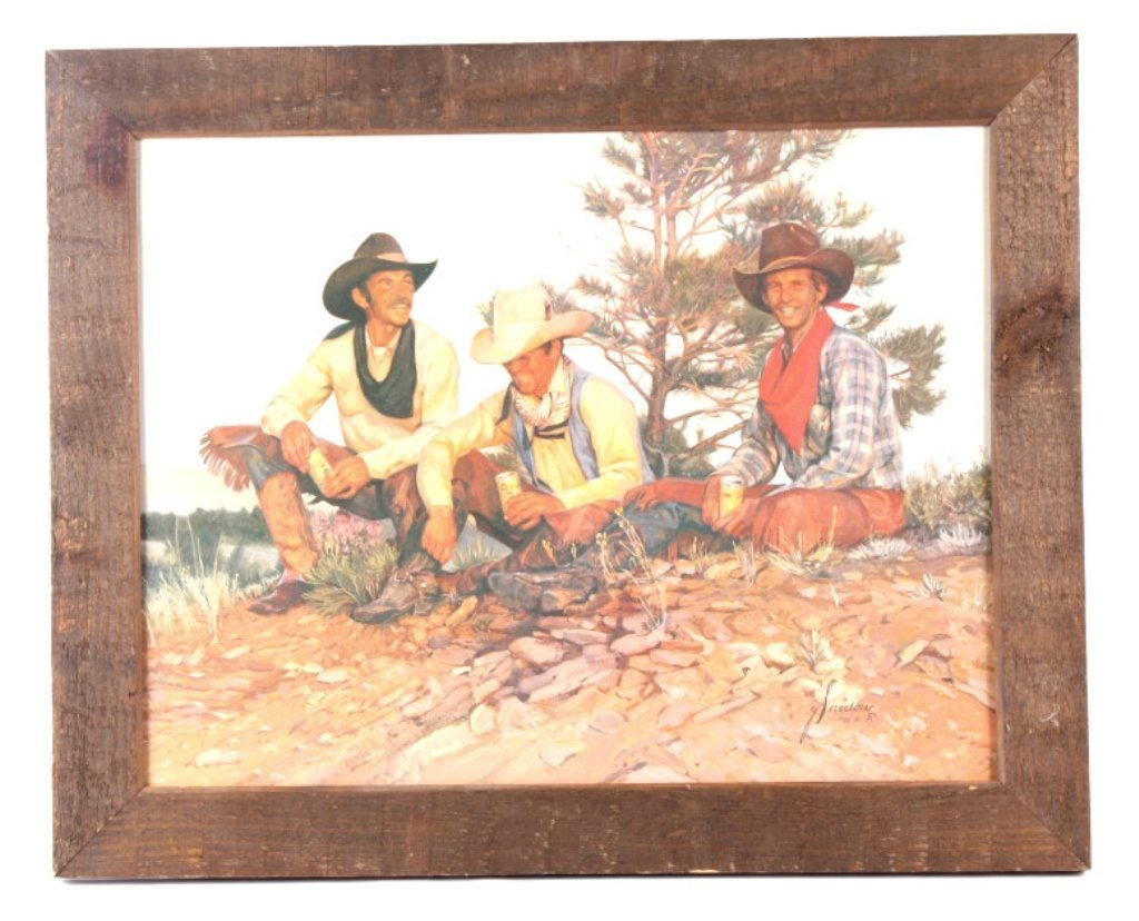 Coors Cowboys Framed Print This lot features a Coo
