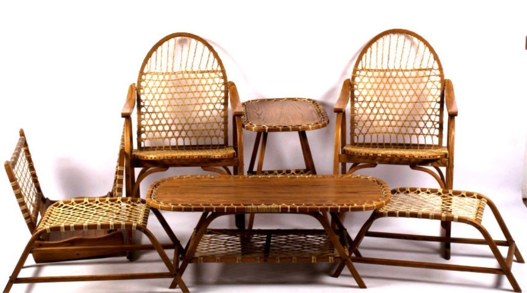 Elegant Tubbs Snowshoe Furniture Set This Lot Includes Sev