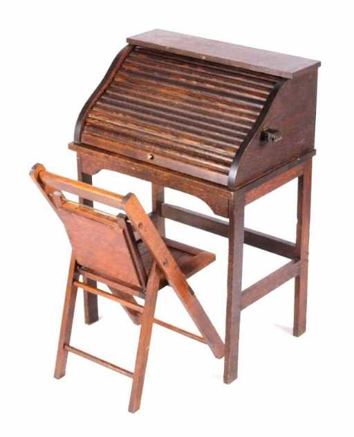 - Antique Eastman Line Children's Roll Top Desk This