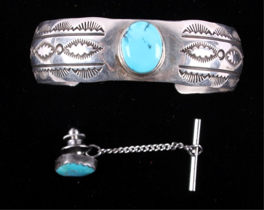 Navajo Silver & Turquoise by Pieces Leroy Sandoval - 2