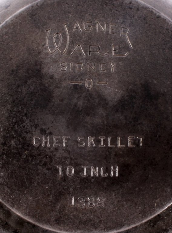 Wagner Cast Iron Chef Skillets This lot includes a - 9