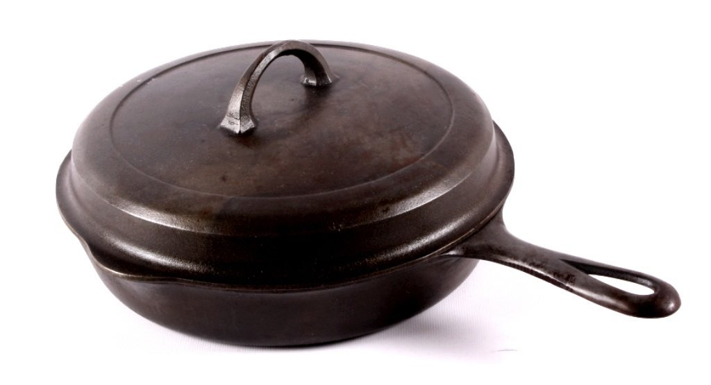 "Griswold Cast Iron ""No. 8"" Skillet with Hinged Lid"