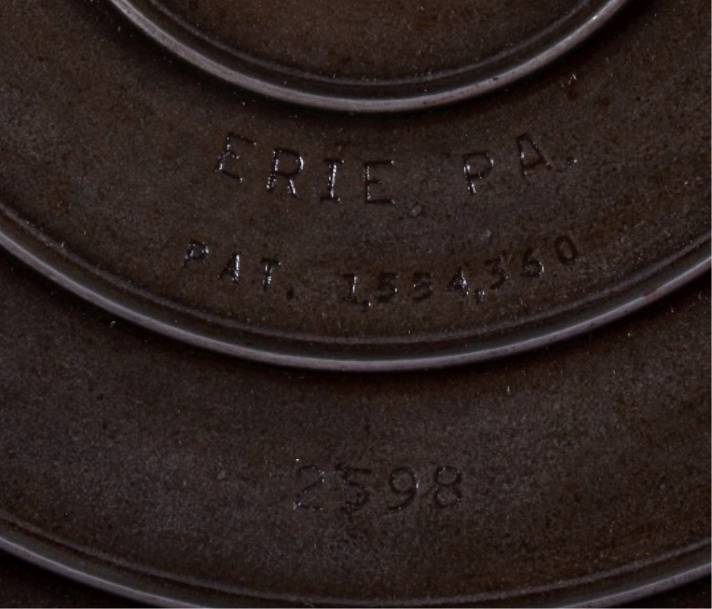 "Griswold Cast Iron ""No. 8"" Skillet with Hinged Lid - 3"