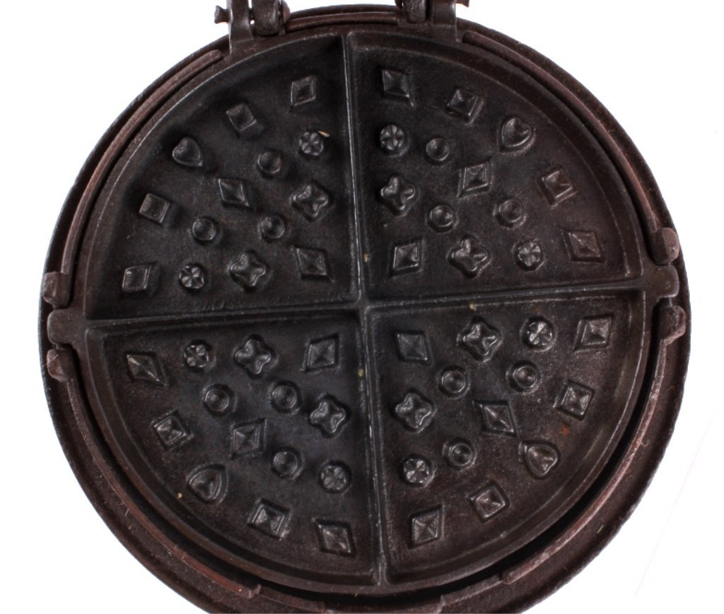 I.A. Sheppard Cast Iron Waffle Maker This lot feat - 6