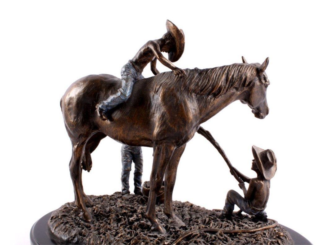 """BOYS WILL BE BOYS"" Montana Silversmiths Sculpture - 6"