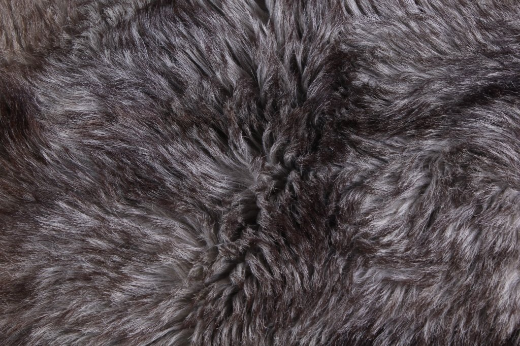 Antique Grey Wolf Fur Blanket This is an early ant - 6