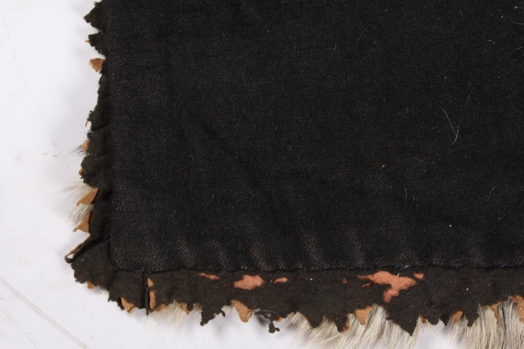 Antique Grey Wolf Fur Blanket This is an early ant - 8