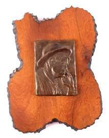 Charles M. Russell Original Self Portrait Bronze T