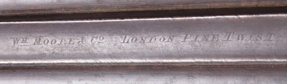 WM Moore & Co Double Barrel Engraved Shotgun The l - 10
