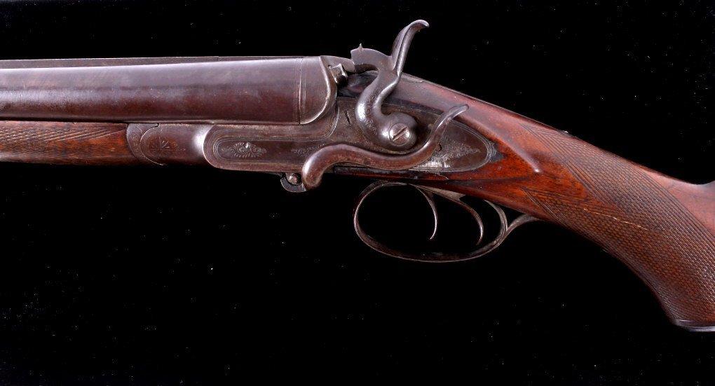 WM Moore & Co Double Barrel Engraved Shotgun The l