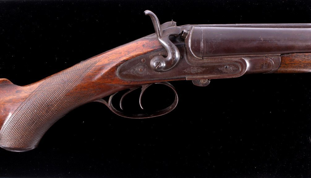 WM Moore & Co Double Barrel Engraved Shotgun The l - 2