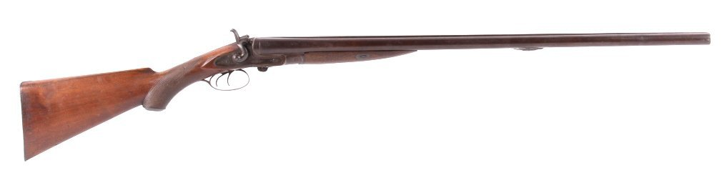 WM Moore & Co Double Barrel Engraved Shotgun The l - 3