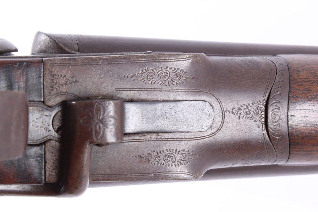 WM Moore & Co Double Barrel Engraved Shotgun The l - 5