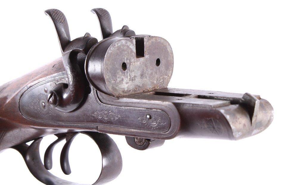 WM Moore & Co Double Barrel Engraved Shotgun The l - 7