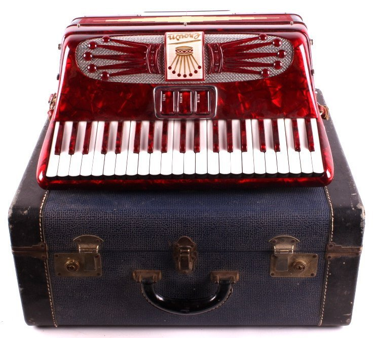 Crown Accordion with Case This is a crown accordio