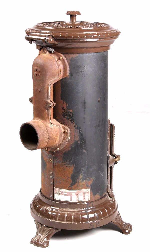 French Godin Petit Coal Stove Cast & Enamel This i