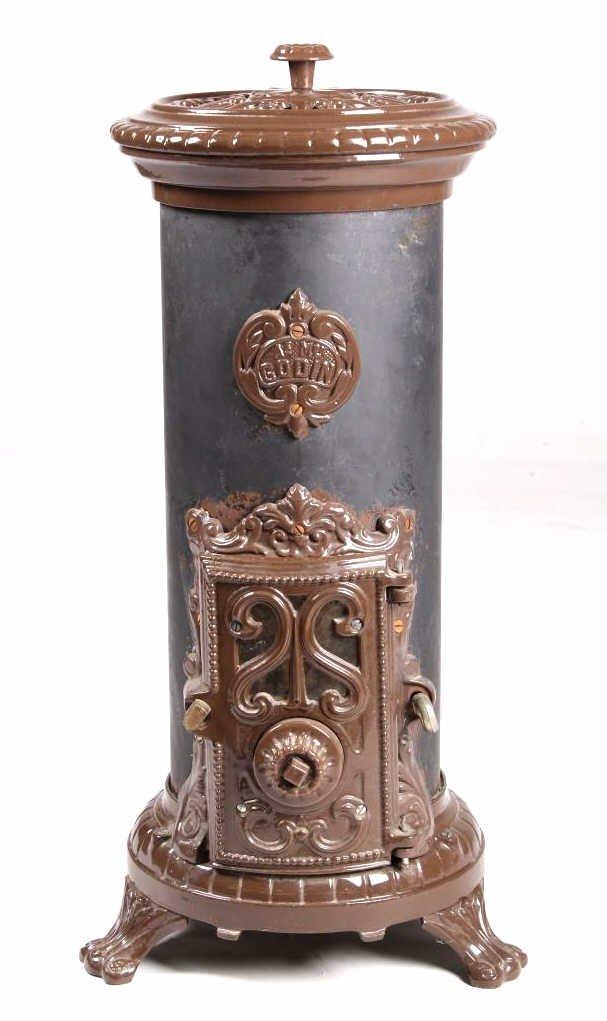 French Godin Petit Coal Stove Cast & Enamel This i - 2