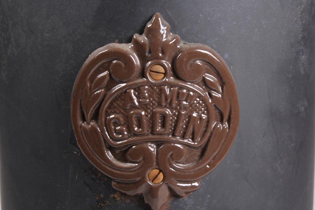 French Godin Petit Coal Stove Cast & Enamel This i - 6