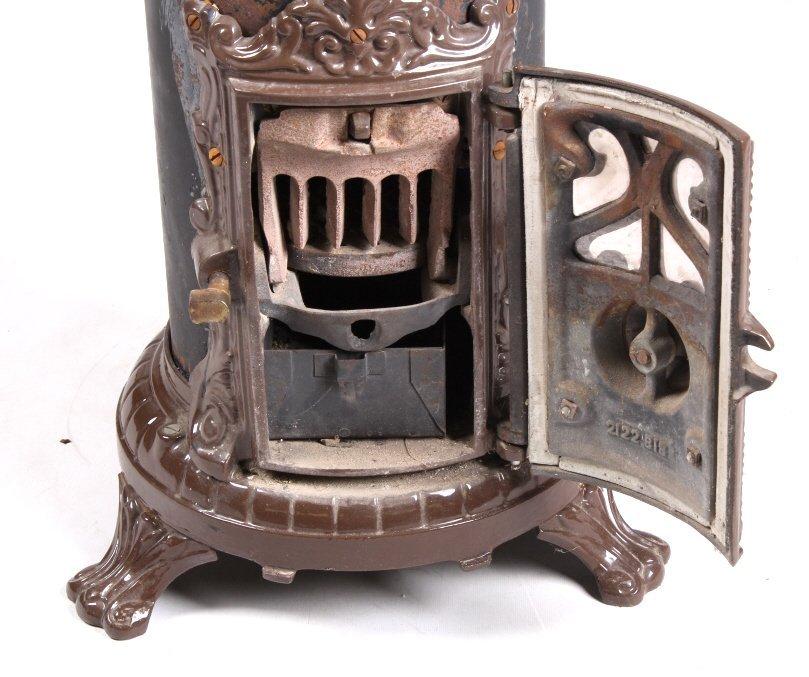 French Godin Petit Coal Stove Cast & Enamel This i - 9