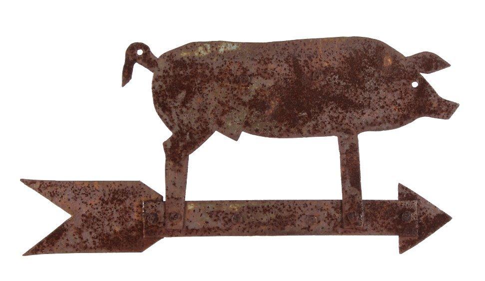 Antique Folk Art Metal Pig Weathervane This is a f