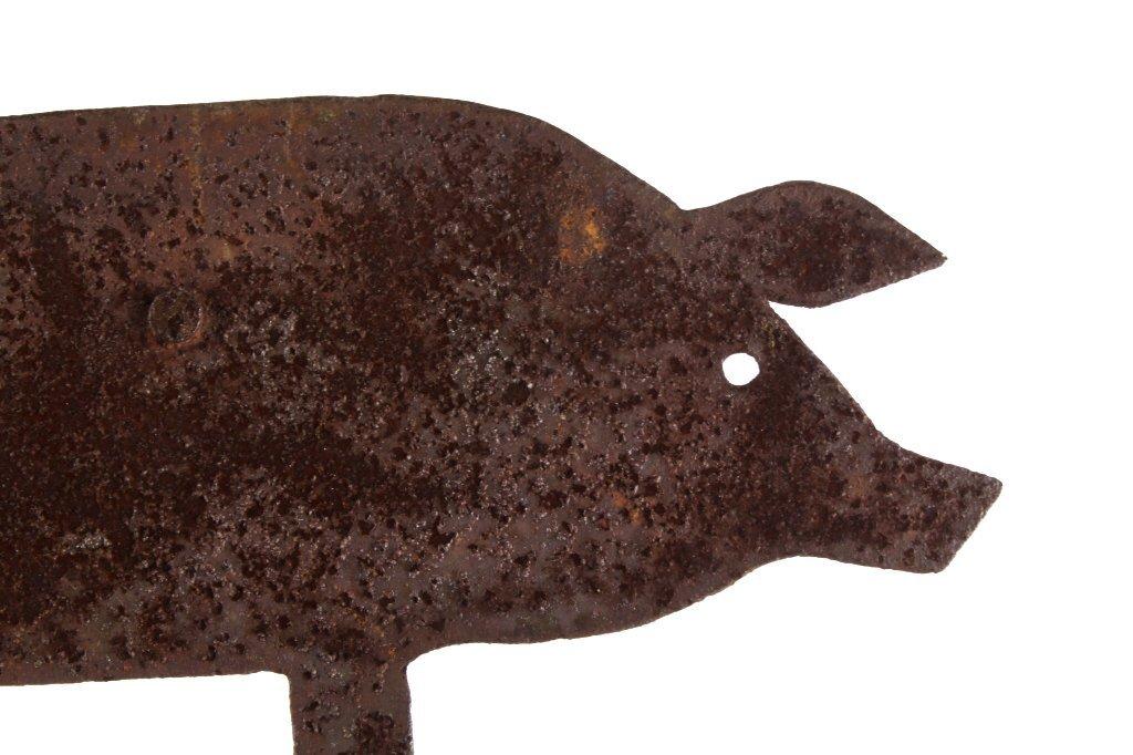 Antique Folk Art Metal Pig Weathervane This is a f - 4