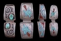 Navajo  Zuni Silver Watch Band Collection The col