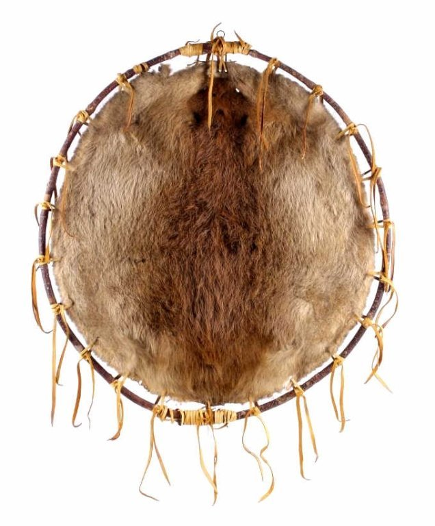 Montana Large Indian Beaver Pelt Stretched to Hoop