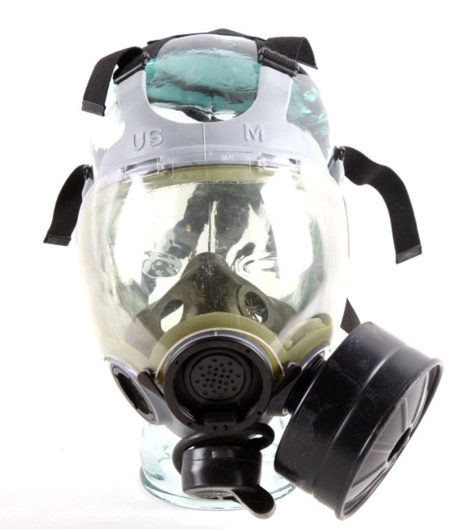 U.S. Navy MCU-2P Gas Respirator Mask This is an or