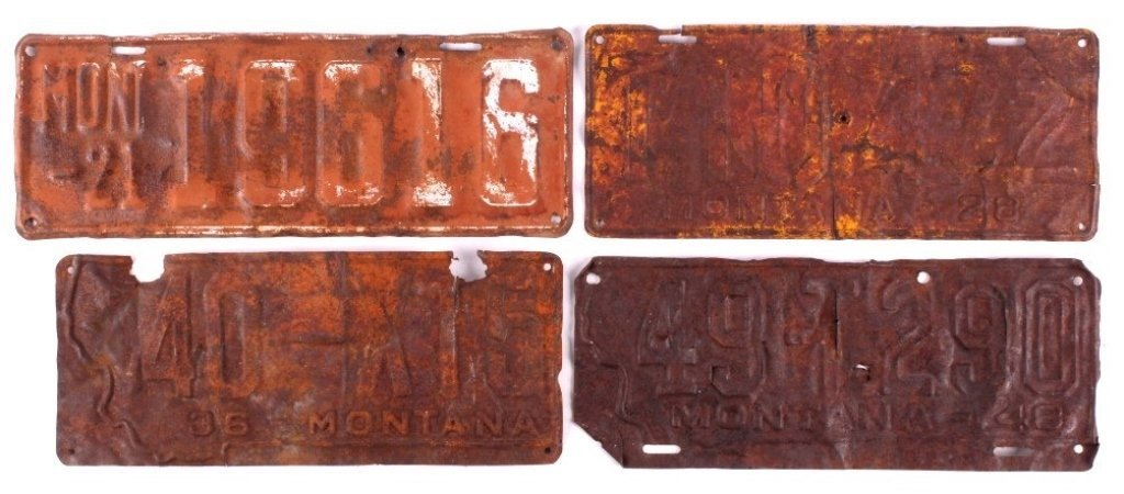 Montana License Plate Collection 1921-1948 This lo