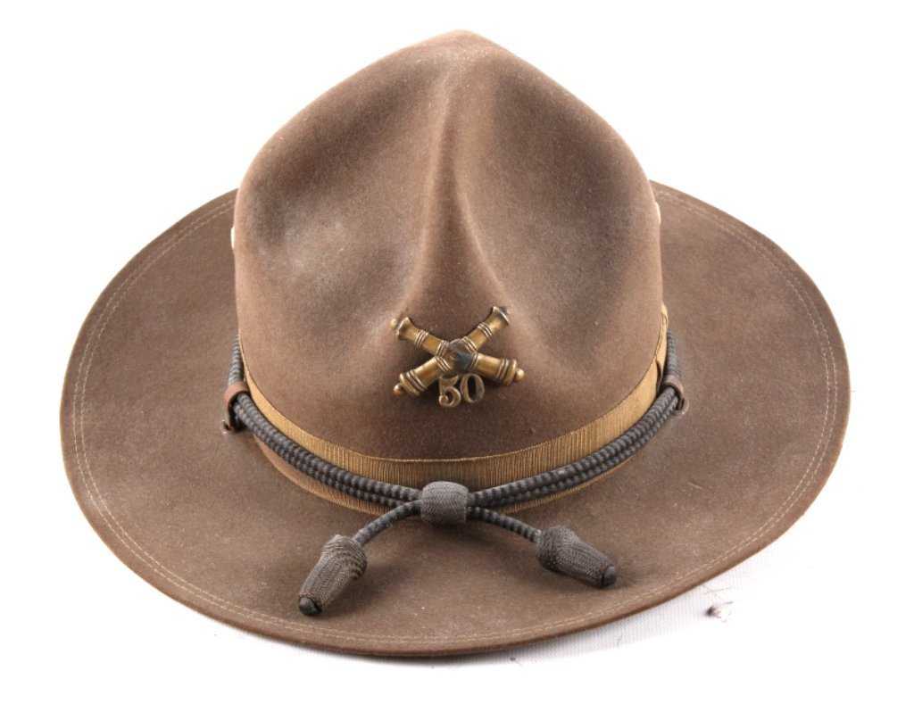 US 50th Artillery Campaign Officers Hat This is a