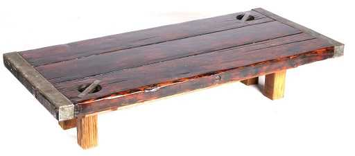 WWII Liberty Ship Hatch Cover Coffee Table This Is - Ship hatch coffee table