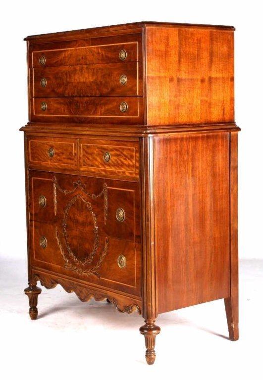 High Quality Huntley Furniture Highboy Ornate Dresser 1929 1935