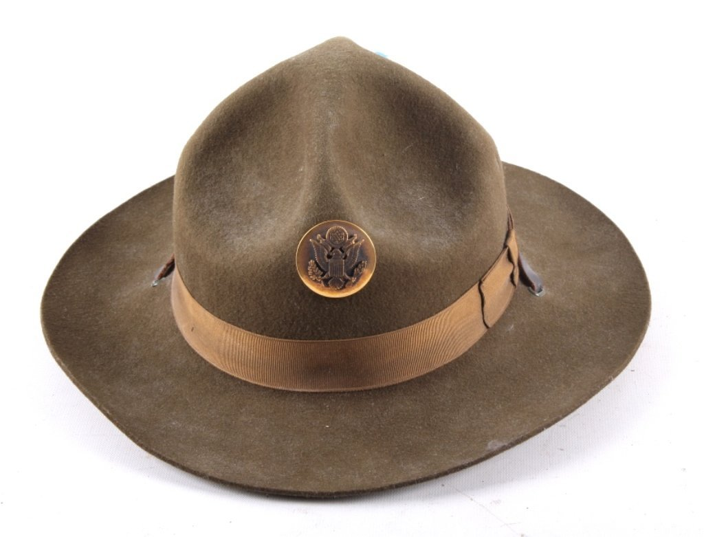WWII M1911 US Cavalry Campaign Hat This is an orig - 2