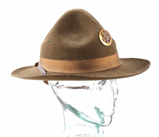 WWII M1911 US Cavalry Campaign Hat This is an orig - 9