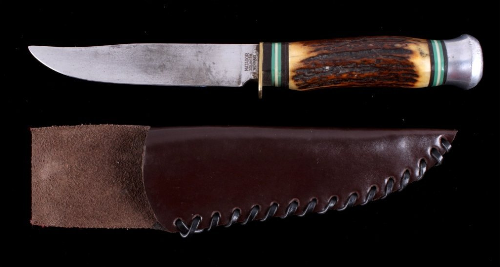 Antique Matador Solingen Knife with Stag Handle Th