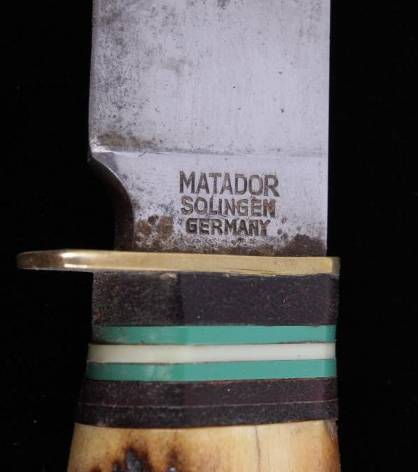 Antique Matador Solingen Knife with Stag Handle Th - 2